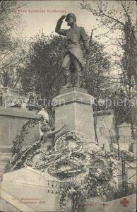 Paris Monument du Sergent Hoff au Pere Lachaise historique Cimetiere Kat. Paris