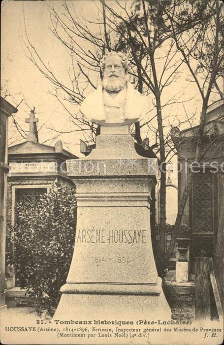 Paris Tombeaux historique au Pere Lachaise Cimetiere Arsene Houssaye Kat. Paris