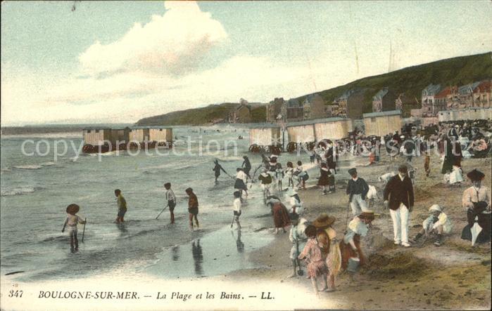 Boulogne sur Mer Plage et les Bains Kat. Boulogne sur Mer