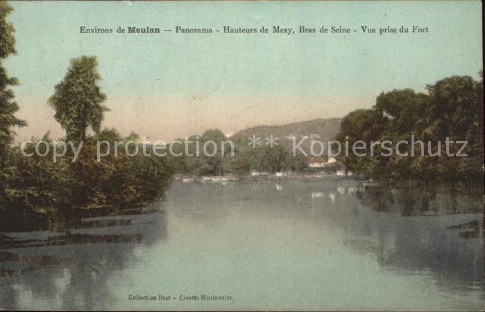 Mezy sur Seine Bras de la Seine vue prise du Fort Kat. Mezy sur Seine