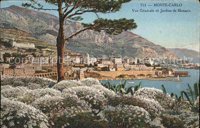 Monte Carlo Vue generale et Jardins Kat. Monte Carlo