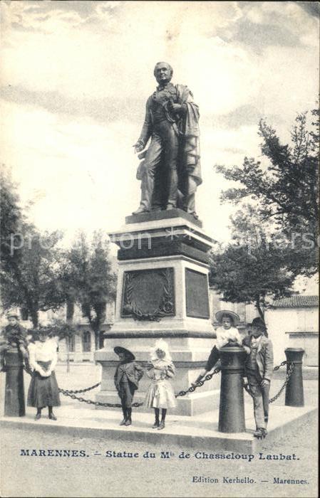 Marennes Charente Maritime Statue de Chasseloup Laubat Monument Kat. Marennes