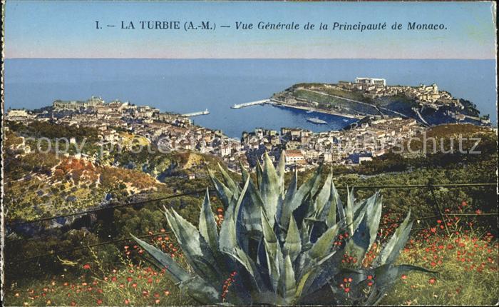 La Turbie Vue generale de la Principaute de Monaco Port Kat. La Turbie