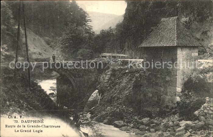 Saint Pierre de Chartreuse Isere Route de la Grande Chartreuse Le Grand Logis Pont Kat. Saint Pierre de Chartreuse