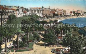Cannes Alpes Maritimes Jardins et les Hotels sur la Croisette Promenade Plage Palmier Kat. Cannes