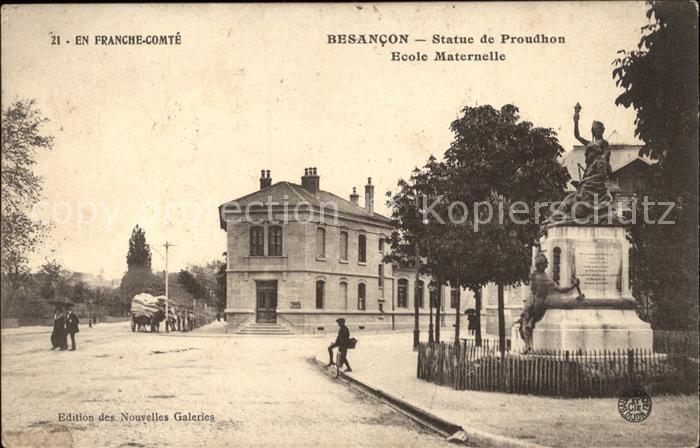 Besancon Doubs Statue de Proudhon Monument Ecole Maternelle Kat. Besancon
