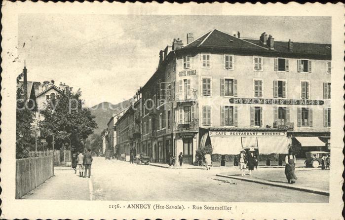 Annecy Haute Savoie Rue Sommeiller Hotel Meuble des Alpes Kat. Annecy