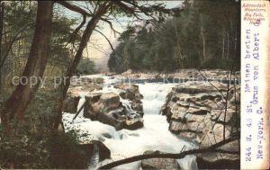 Wilmington New York Big Falls in Adirondack Mountains Kat. Wilmington