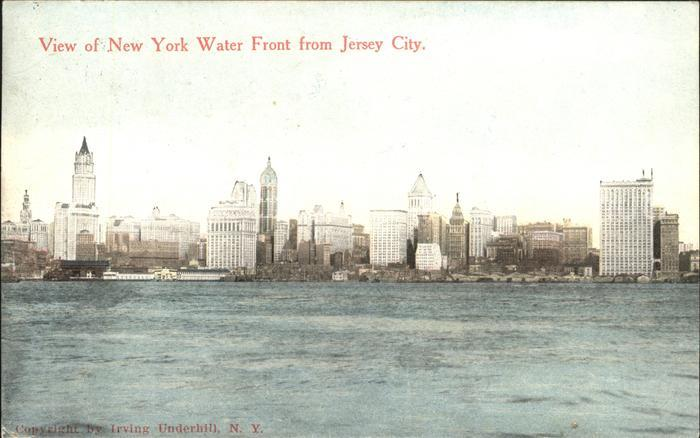 New York City View of Water Front from Jersey City / New York /