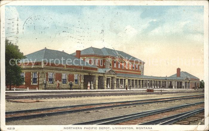 Livingston Montana Northern Pacific Depot Railway Kat. Livingston