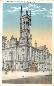 Philadelphia Pennsylvania Masonic Temple Kat. Philadelphia