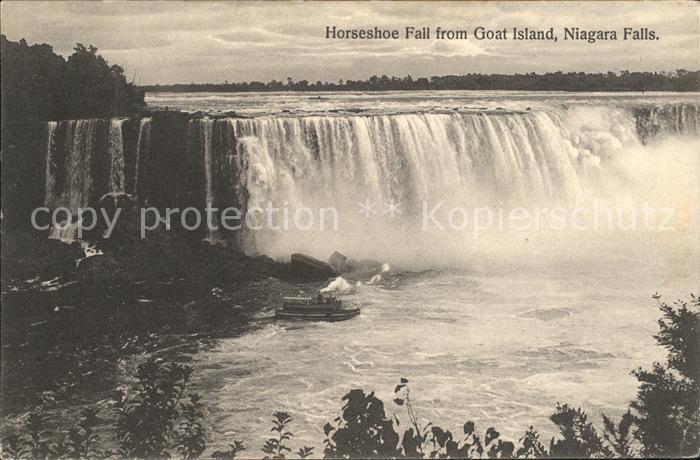 Niagara Falls New York Horseshoe Falls from Goat Island Kat. Niagara Falls