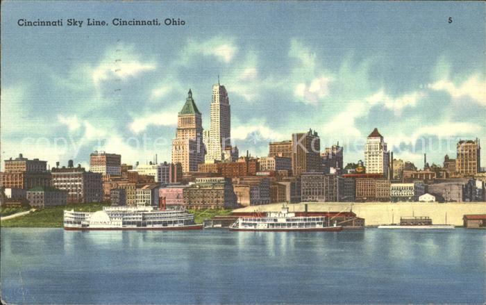 Cincinnati Ohio Skyline Kat. Cincinnati