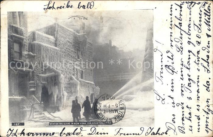 New York City Winter Fire Scene Eagle / New York /