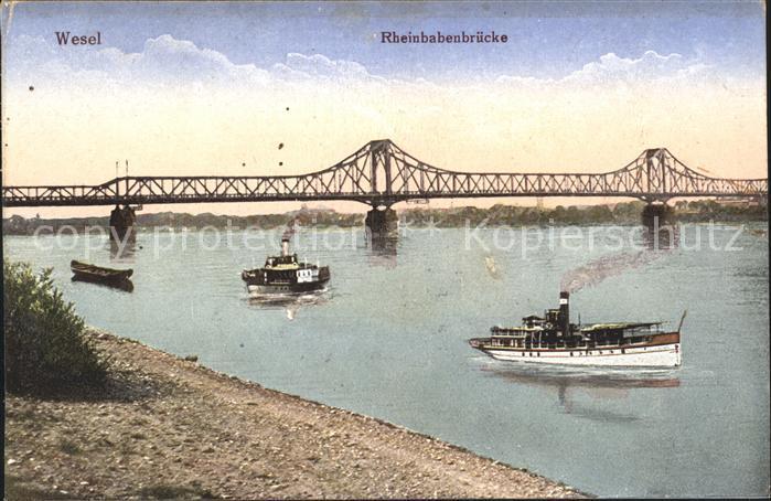 Wesel Rhein Rheinbabenbruecke / Wesel /Wesel LKR