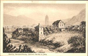 Jena Thueringen Goethe Handzeichnung Schillers Garten / Jena /Jena Stadtkreis