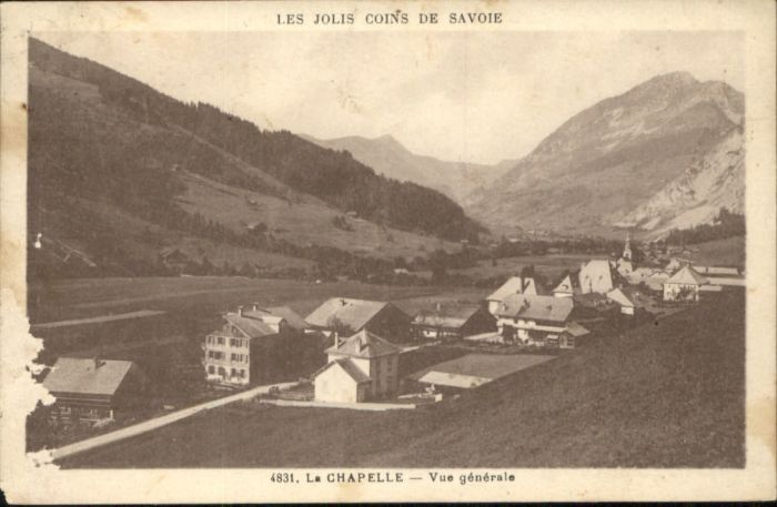 La Chapelle Savoie La Chapelle Savoie x / La Chapelle /Arrond. de Saint-Jean-de-Maurienne