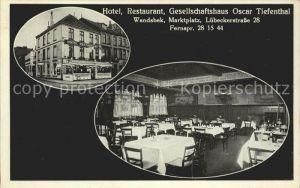 Wandsbek Hotel-Restaurant-Gesellschaftshaus Oscar Tiefenthal / Hamburg /Hamburg Stadtkreis