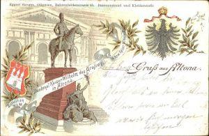 Altona Hamburg Denkmal Kaiser Wilhelm der Grosse Litho / Hamburg /Hamburg Stadtkreis