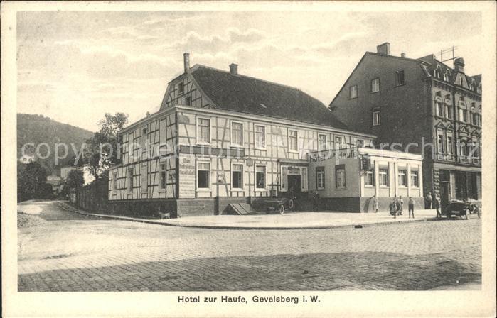Gevelsberg Hotel zur Haufe  / Gevelsberg /Ennepe-Ruhr-Kreis LKR