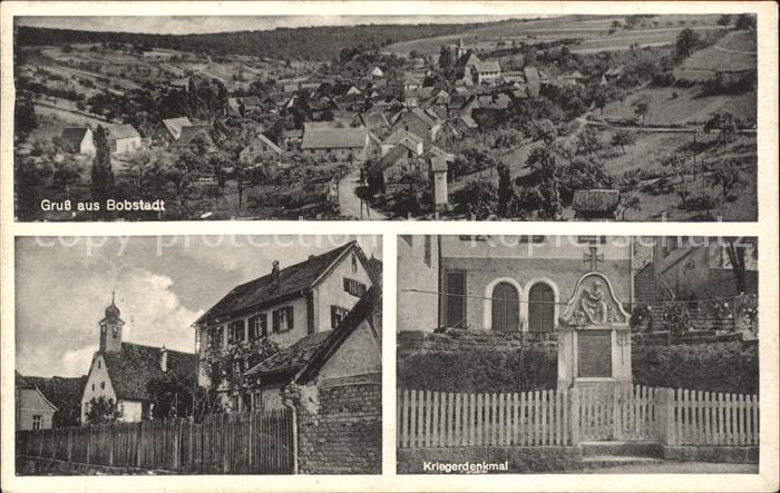 Bobstadt Boxberg Kriegerdenkmal / Boxberg /Main-Tauber-Kreis LKR