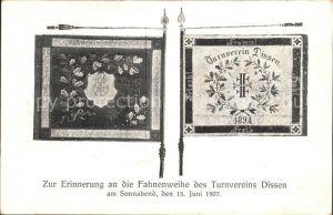 Dissen Teutoburger Wald Fahnenweihe Turnverein Dissen 1907 / Dissen am Teutoburg. Wald /Osnabrueck LKR