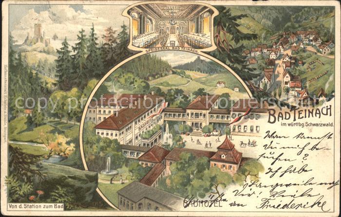 Bad Teinach-Zavelstein Badhotel Speisesaal Litho / Bad Teinach-Zavelstein /Calw LKR
