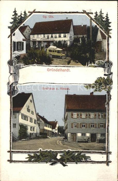 Gruendelhardt Gasthaus zum Hirsch  / Frankenhardt /Schwaebisch Hall LKR