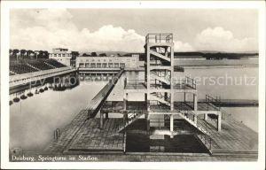 Duisburg Ruhr Springturm im Stadion / Duisburg /Duisburg Stadtkreis