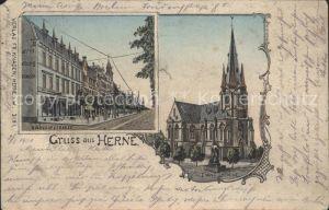 Herne Westfalen Bahnhofstrasse Evangelische Kirche / Herne /Herne Stadtkreis