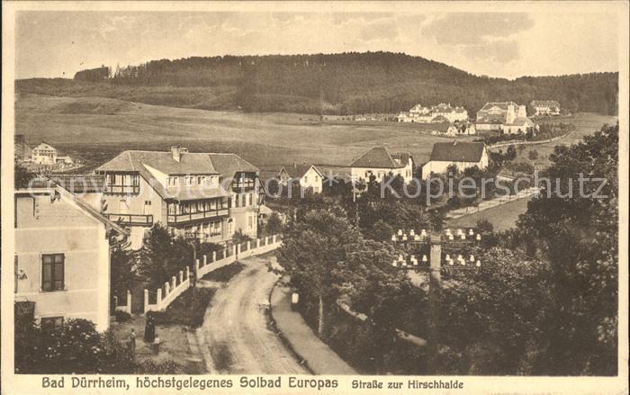 100% Wahr Ak Bad Dürrheim Im Schwarzwald Baar Kreis 1003119 Sanatorium Hirschhalde