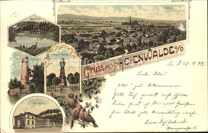 Bad Freienwalde See Kriegerdenkmal Kurhaus / Bad Freienwalde /Maerkisch-Oderland LKR