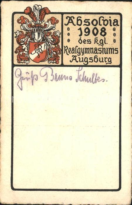Augsburg Absolvia 1908 Realgymnasium / Augsburg /Augsburg LKR