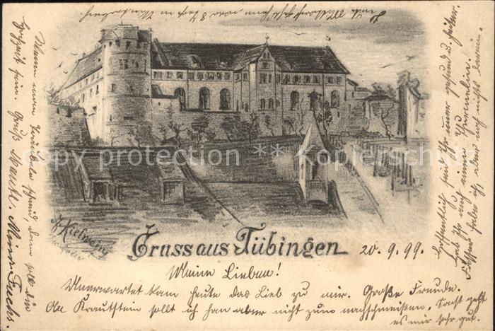 Tuebingen Schloss Kuenstlerkarte / Tuebingen /Tuebingen LKR