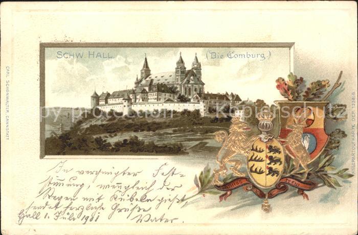 Schwaebisch Hall Comburg Wappen Krone / Schwaebisch Hall /Schwaebisch Hall LKR