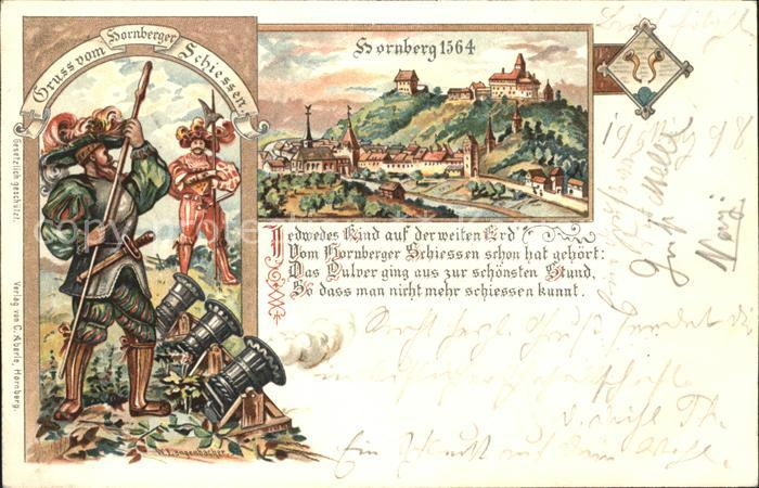 Hornberg Schwarzwald um 1564 Hornberger Schiessen / Hornberg /Ortenaukreis LKR