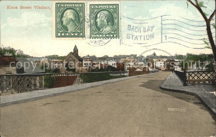 Boston Massachusetts Knox Street Viadukt / Boston /