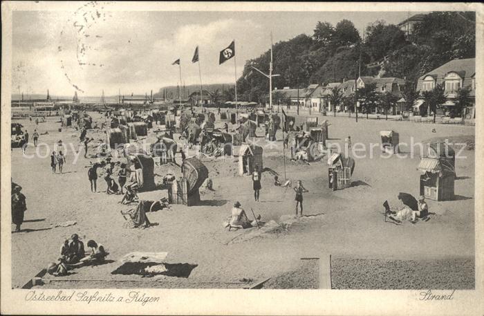 Sassnitz Ostseebad Ruegen Strand  / Sassnitz /Ruegen LKR