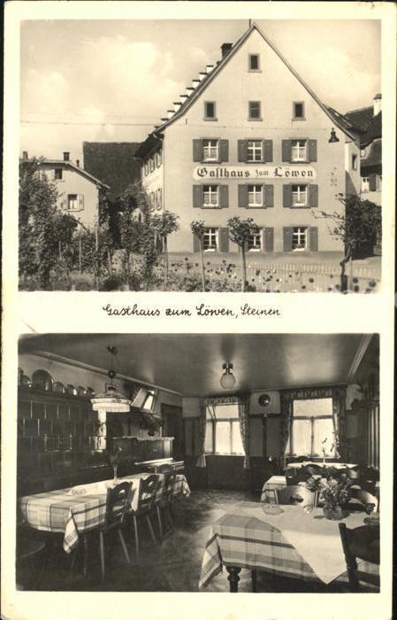 Steinen Wiesental Gasthaus zum Loewen  / Steinen /Loerrach LKR