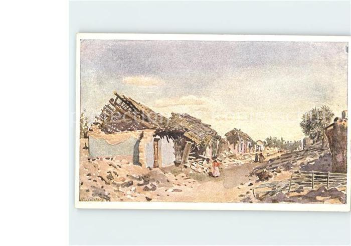 San Salvador Dorfpartie Kuenstlerkarte Kat. San Salvador