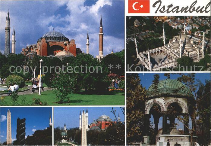 Istanbul Constantinopel St. Sophia Egyptian Obelisk Hippodrome Fontain Emperor Wilhelm II / Istanbul /