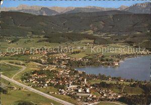 Seewalchen Attersee Schoerfling Kammer Hoellengebirge Fliegeraufnahme Kat. Seewalchen am Attersee