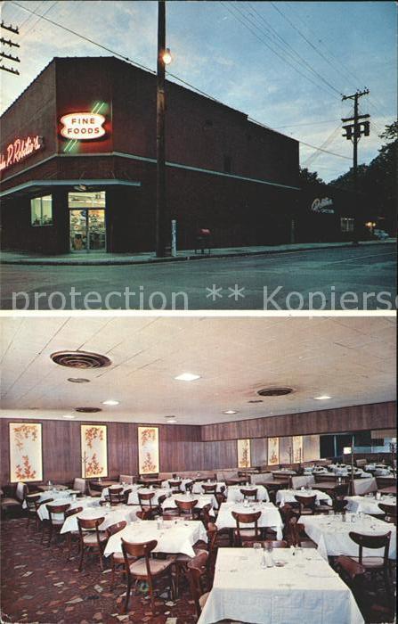 Memphis Tennessee John P. Robilios Cafe Kat. Memphis