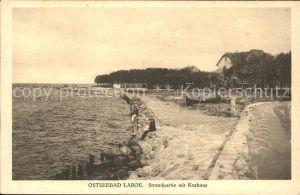 Laboe Strandpartie mit Kurhaus Kat. Laboe