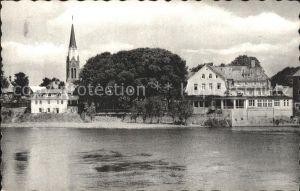 Nienburg Weser Blick ueber die Weser Kat. Nienburg (Weser)