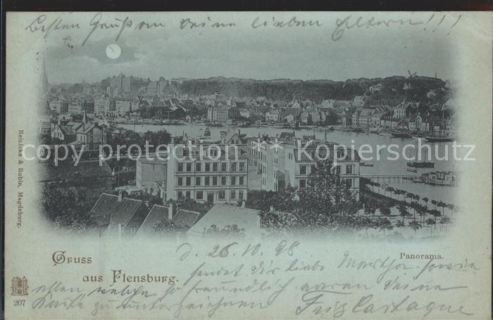Flensburg Panorama Kat. Flensburg