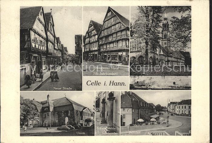 Celle Niedersachsen Neue Strasse Hoppener Haus Museum und Stadtkirchen Union Bahnhof / Celle /Celle LKR