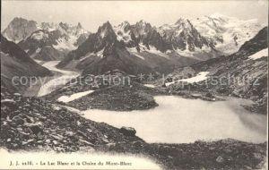 Chamonix Lac Blanc et la Chaine du Mont Blanc Kat. Chamonix Mont Blanc