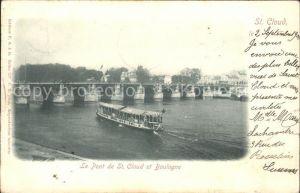 Saint Cloud Hauts de Seine Pont Bateau Kat. Saint Cloud