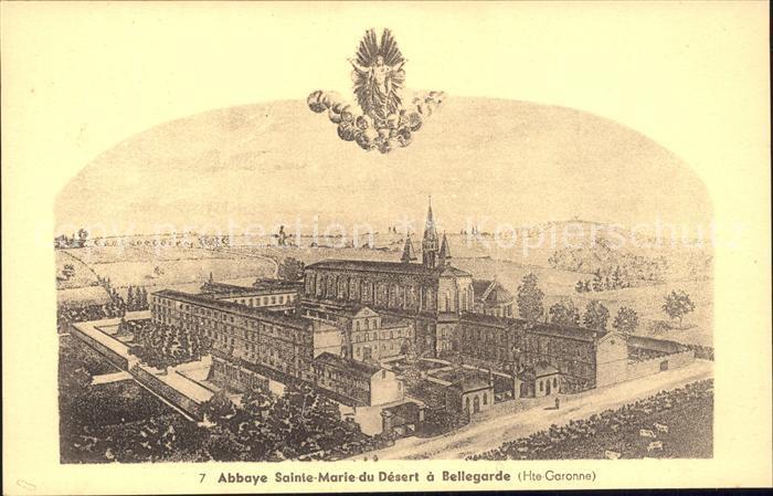 Bellegarde-Sainte-Marie Abbaye de Sainte Marie du Desert Illustration / Bellegarde-Sainte-Marie /Arrond. de Toulouse